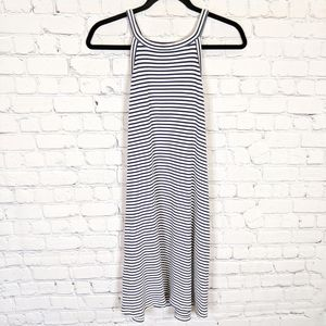 Madewell District Dress in Stripe Blue and White M
